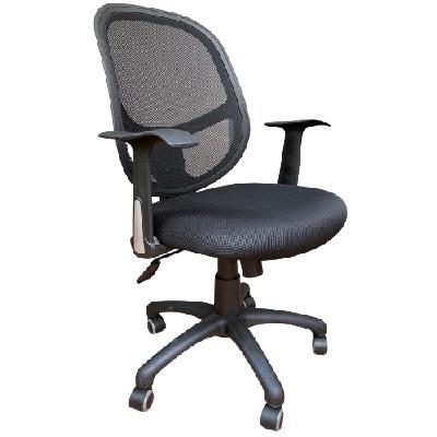 כיסא משרדי עם ידיות טופ גומא