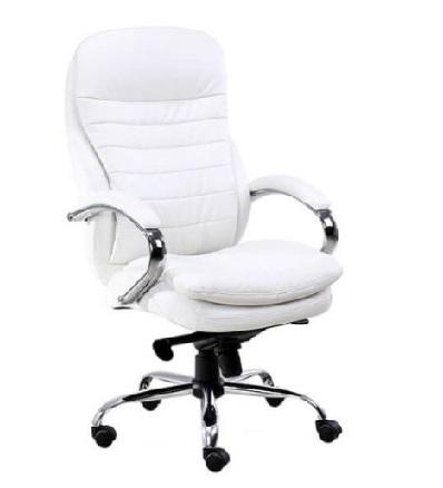 סא מנהלים לבן מרסיי SILVER - כיסא מנהלים קפרה ציוד משרדי