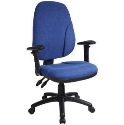 כיסא מחשב צחור כחול