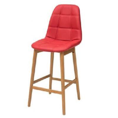 כסא בר דלפק גבוה נץ אולימפיק אדום