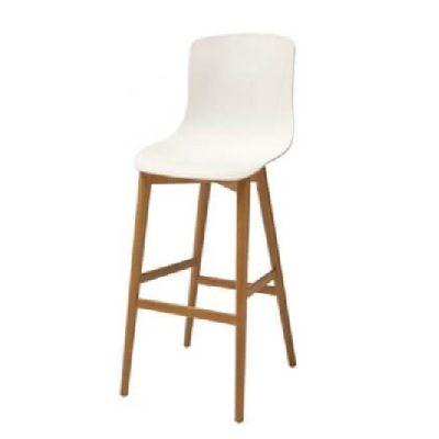 כסא בר דלפק גבוה נץ מונקו - לבן