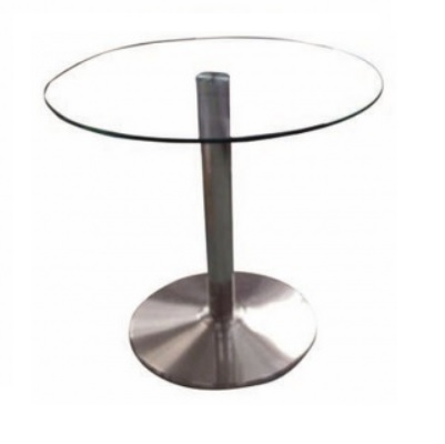 שולחן פלטת זכוכית קאן עגול