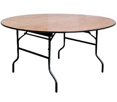 שולחן מתקפל עגול משטח עץ קל לנשיאה - קפרה ציוד משרדי