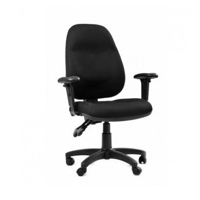 כסא טופ צחור עם ידיות מתכווננות
