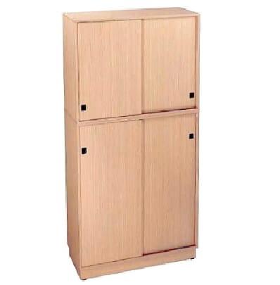 ארון ארכיב גבוה 4 דלתות הזזה ז'נבה עשוי עץ צבע לבחירה