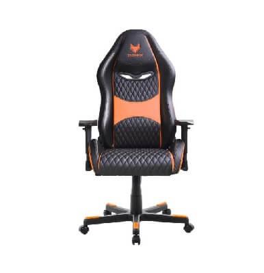 מושב גיימינג SPARKFOX בטקסטורת מעויינים gaming-sparkfox-orange